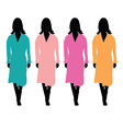 girl with bathrobe color vector image vector image