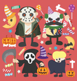 Halloween set Infographic Elements of Jokermurderb vector image