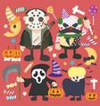 Halloween set Infographic Elements of Jokermurderb vector image vector image