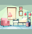 hospital room medical empty interior with couch vector image vector image