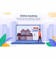 house apartment online booking flat banner vector image vector image