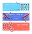 lace shoes banners vector image vector image