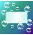 Leaf of paper and soap bubbles vector image vector image