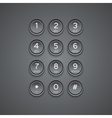 modern phone keypad background vector image