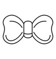 new bow tie icon outline style vector image