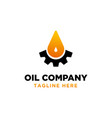 oil and gas logo design inspiration vector image vector image