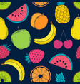 pattern with colorful fruits vector image