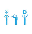 people with inventions business symbol vector image vector image