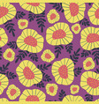 scandinavian vintage floral background vector image