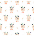 seamless pattern with cute magician bears vector image