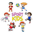 sport athlete character on white background vector image
