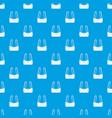 sports bra pattern seamless blue vector image vector image
