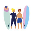 summer people activities young men holding vector image