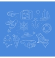 summer travel related object collection vector image