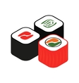 Sushi roll isometric 3d icon vector image vector image