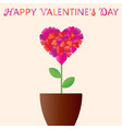 valentines day heart in the form of a flower in vector image