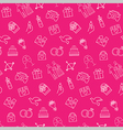 Wedding seamless pattern background vector image vector image