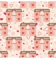 Wedding seamless pattern with house for newlyweds vector image vector image