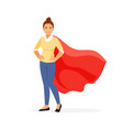 woman superhero vector image