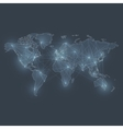 Communications network map vector image