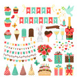 big set of party icons vector image