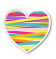 isolated multicolor heart vector image