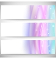 Abstract headers set wave design vector image