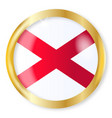 alabama flag button vector image vector image