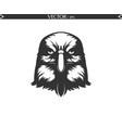 angry eagle silhouette vector image vector image