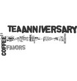 anniversary favor ideas text word cloud concept vector image vector image