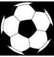Ball on black vector image vector image
