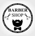 barber shop logo barbershop emblem label badge vector image