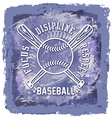 baseball abstract background vector image vector image