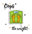 bathroom weight scale sticker fashion patch vector image vector image
