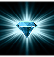 Beautiful blue crystal background vector image