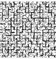 black speckled grunge geometric pattern vector image vector image