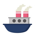 boat sea transport vector image