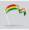 Bolivian wavy flag vector image vector image
