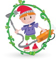 Boy cleaning resize vector image
