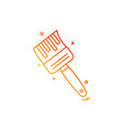 brush icon design vector image