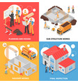 building isometric design concept vector image vector image