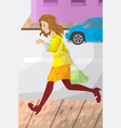 businesswoman late for work vector image