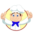 Chef cartoon with thumb up vector image