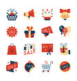 clearance sale colorful flat style icon set vector image vector image