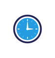 clock icon flat design element watch vector image vector image