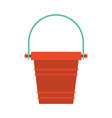 color silhouette of toy bucket beach kit vector image vector image
