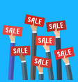 concept of sale vector image