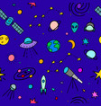 cosmos space astronomy simple seamless pattern vector image