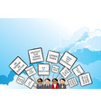 crowd protesting with placards vector image vector image