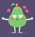 Cute Pear Phone Crazy in Love vector image vector image